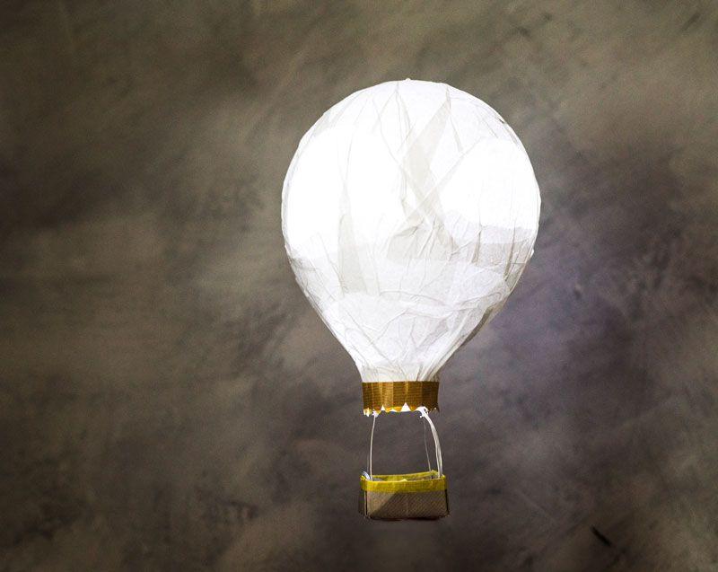 lampe montgolfière papier de soie